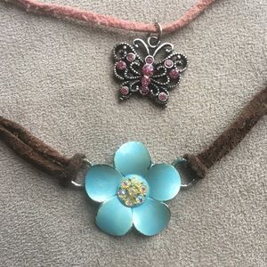 Butterfly and Flower Necklace Bundle